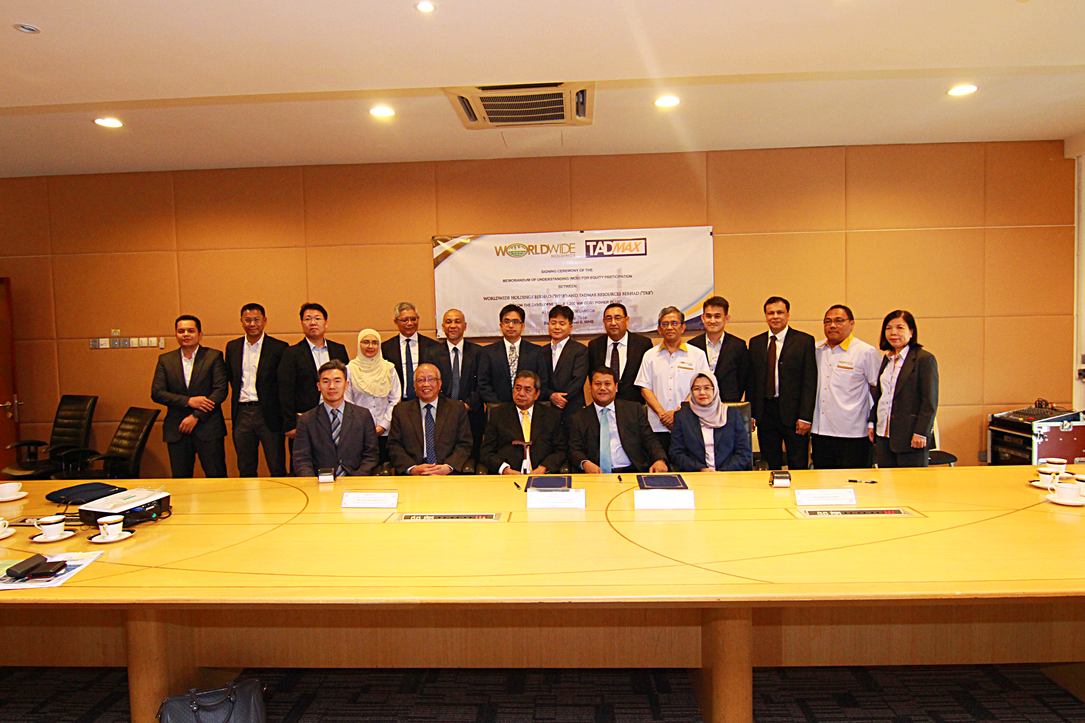 Tadmax, Worldwide team up for power plant project
